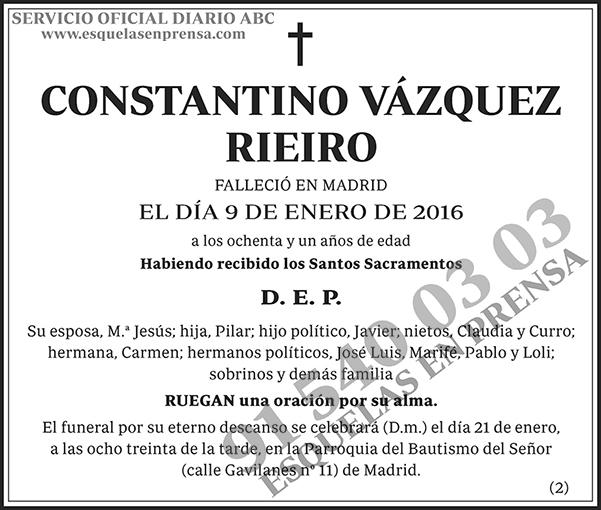 Constantino Vázquez Rieiro
